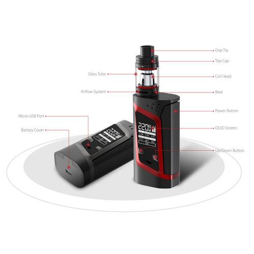 Kit Alien 220W +tfv8 Baby Smoke de Smoktech